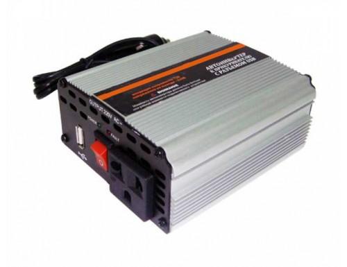 Инвертор напряжения 12В/220В 600 Ватт