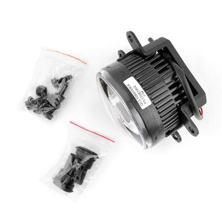LED противотуманные фары MTF FL10W универсальные (линза)