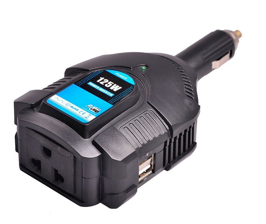 Инвертор напряжения 12В/220В PowerAce PI125 +USB