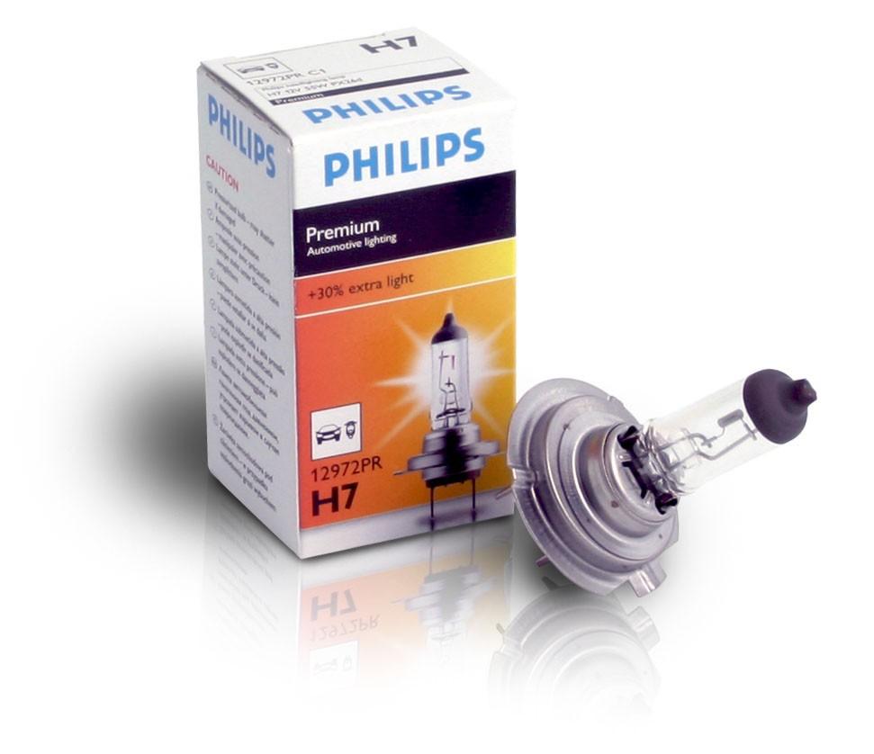 Галогеновая лампа Philips H7 +30% PREMIUM 12V 55W