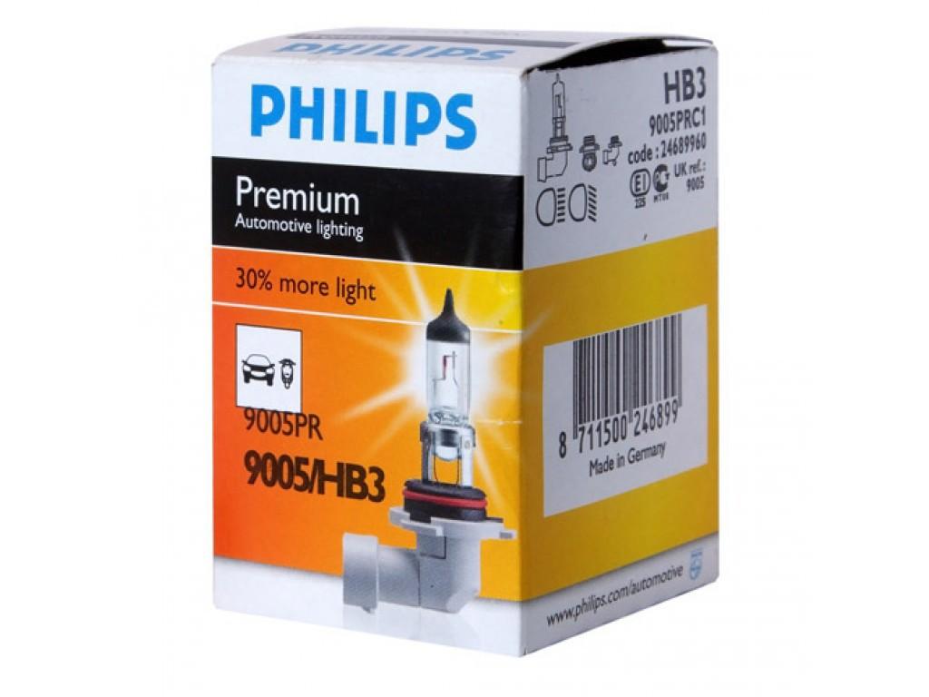 Галогеновая лампа Philips HB3 +30% PREMIUM 12V 55W