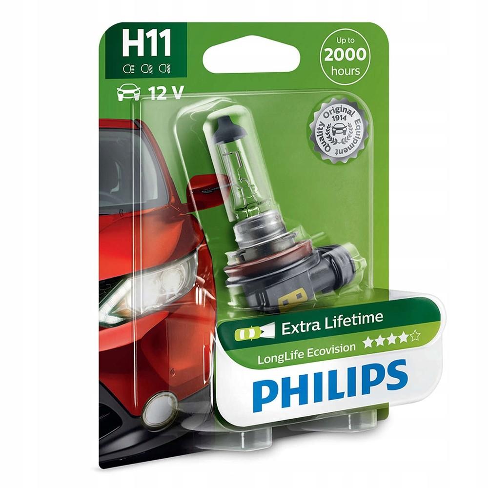 Галогеновая лампа Philips H11 LONG LIFE ECO VISION 12V 55W