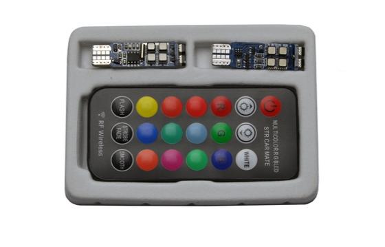 Светодиодная лампа RGB с пультом 10 SMD T10 W5W (компл. 2 шт.)