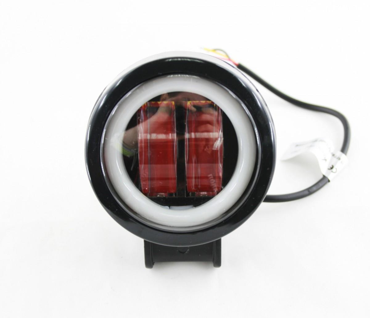 Светодиодная фара Lightway 20W Круг + ДХО (ближний свет, ровная СТГ)