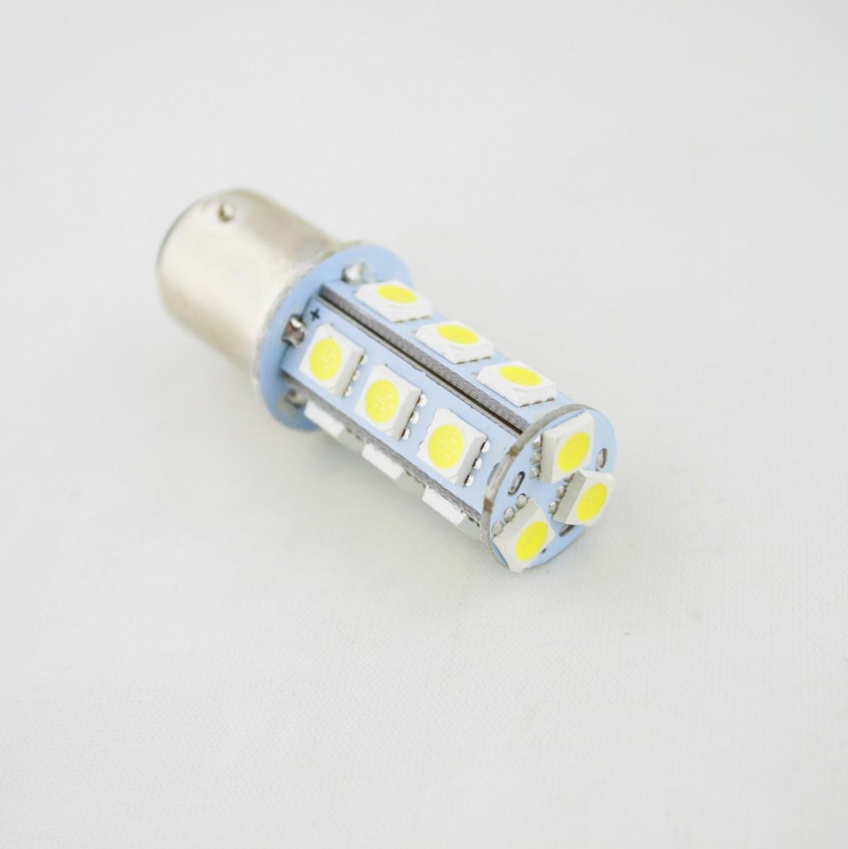 Светодиодная лампа CP (BAY15d) 2-контактная (габариты+стоп) 18SMD 5050