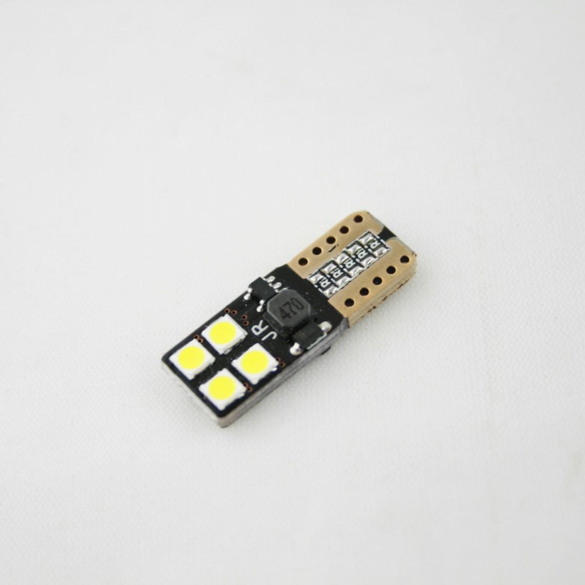Светодиодная лампа CP (W5W) 8 SMD 3030 (с обманкой)
