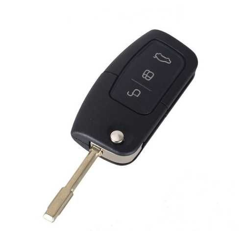 Ключ с платой выкидной (F30) Ford 3 кнопки (Лезвие FO21, плата 433Мгц, чип 4D60)