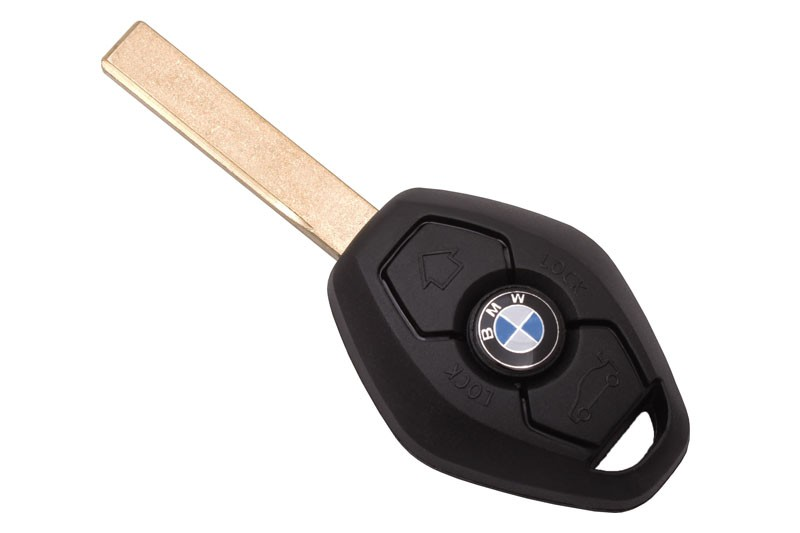 Ключ с платой прямой (BM25) Bmw EWS чип 7935 ID44 (частота 315, 433 можно перекл) лезвие HU92, 3 кнопки