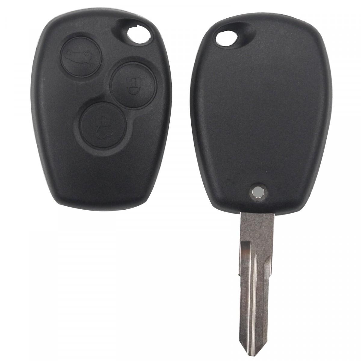 Корпус на Смарт ключ (R0005) Renault (Logan, Sandero, Duster) прямой, 3 кнопки
