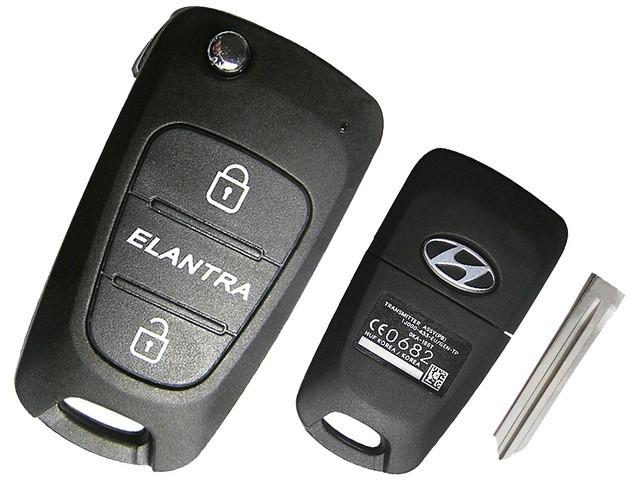 Корпус на Смарт ключ (Н002) Hyundai Elantra выкидной, 3 кнопки