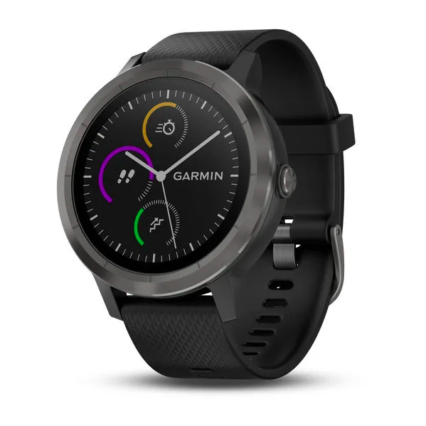 Смарт-часы Garmin Vivoactive 3 с функцией GARMIN PAY, черные с черным ремешком