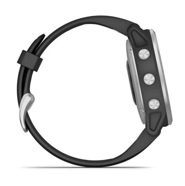 Часы Garmin Fenix 6S с GPS, серебристые с черным ремешком