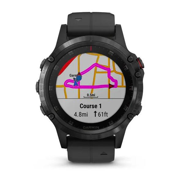 Часы Garmin Fenix 5 PLUS Sapphire RUSSIA черные с черным ремешком