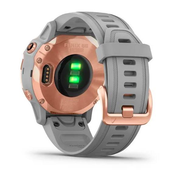 Часы Garmin Fenix 6S Sapphire с GPS, розов.золото с серым ремешком