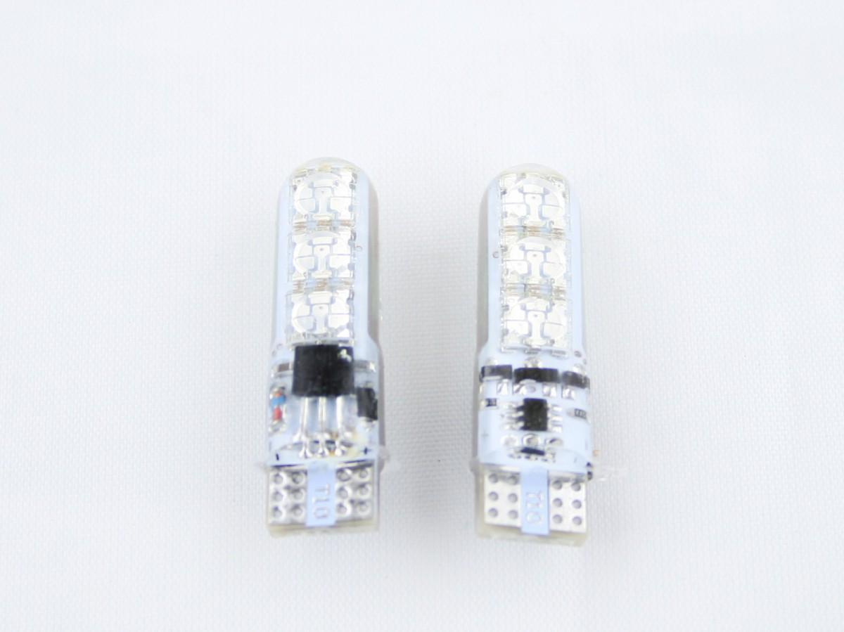Светодиодная лампа RGB с пультом T10 W5W (компл. 2 шт.)