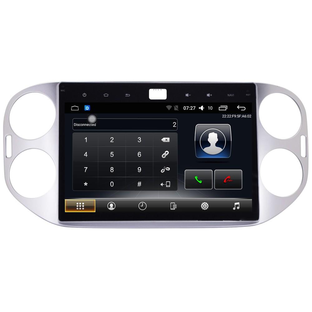 Штатная магнитола на Android T10 для VW Tiguan I