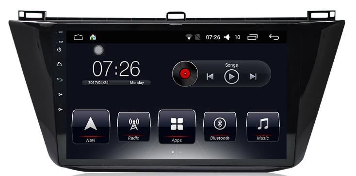 Штатная магнитола на Android T10 для VW Tiguan II MQB