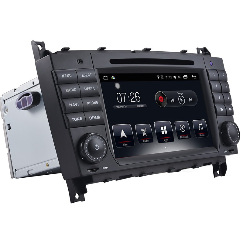 Штатная магнитола на Android T10 для Mercedes-Benz C-Class S203, C-Class W203, CLK Convertible A209, CLK C209, CLC-Class