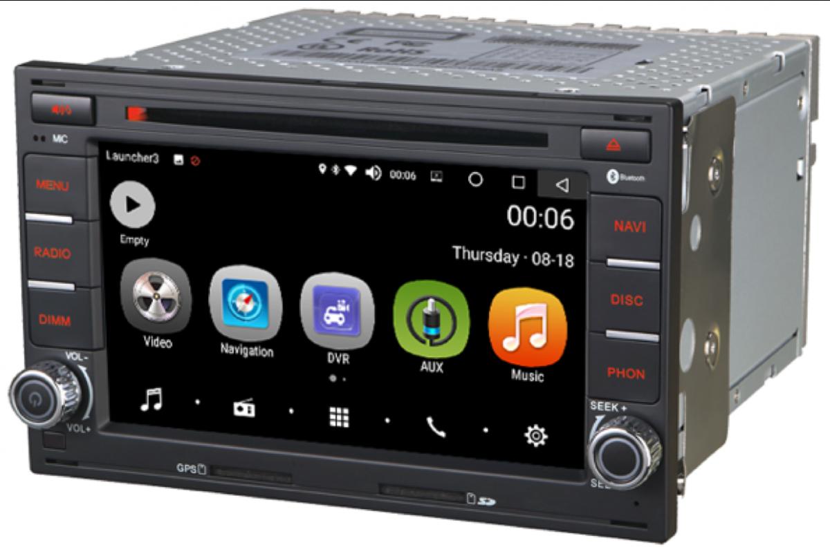 Штатная магнитола на Android PX5 для VW Bora, Golf 4, Passat B5, Transporter 4, Skoda Octavia Tour