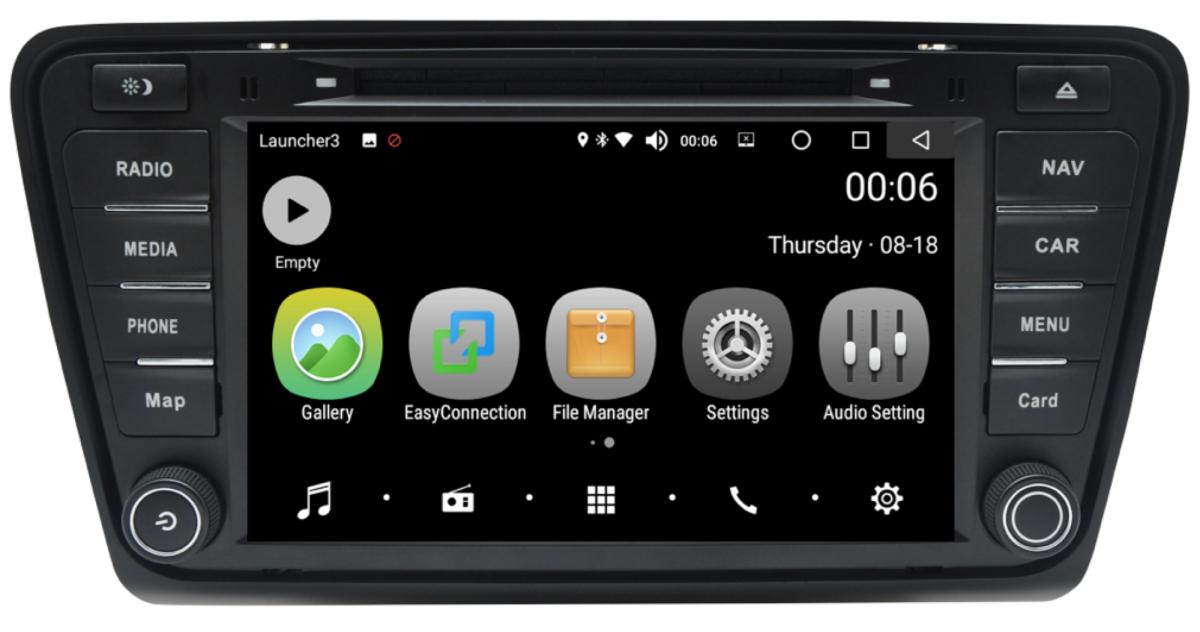 Штатная магнитола на Android PX5 для Skoda Octavia A7