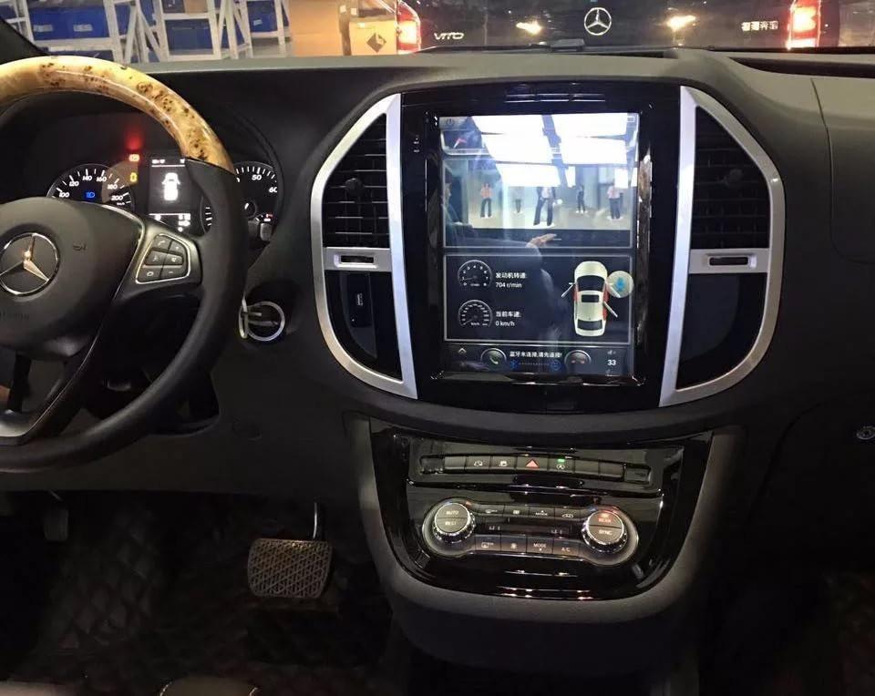 Магнитола в стиле Tesla для Mercedes-Benz Vito III (2014+)