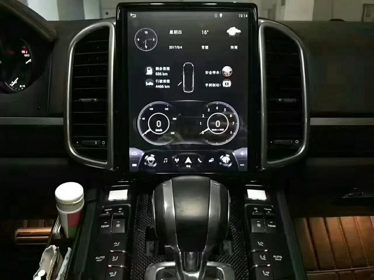 Магнитола в стиле Tesla для Porsche Cayenne II (2010-2018)