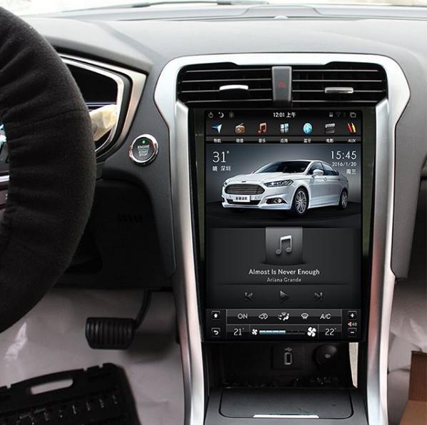Магнитола в стиле Tesla для Ford Mondeo V (2014+)