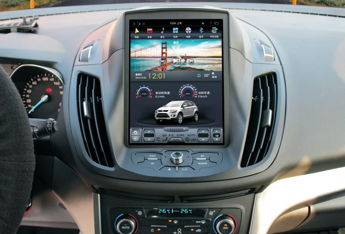 Магнитола в стиле Tesla для Ford Kuga II (2012+)