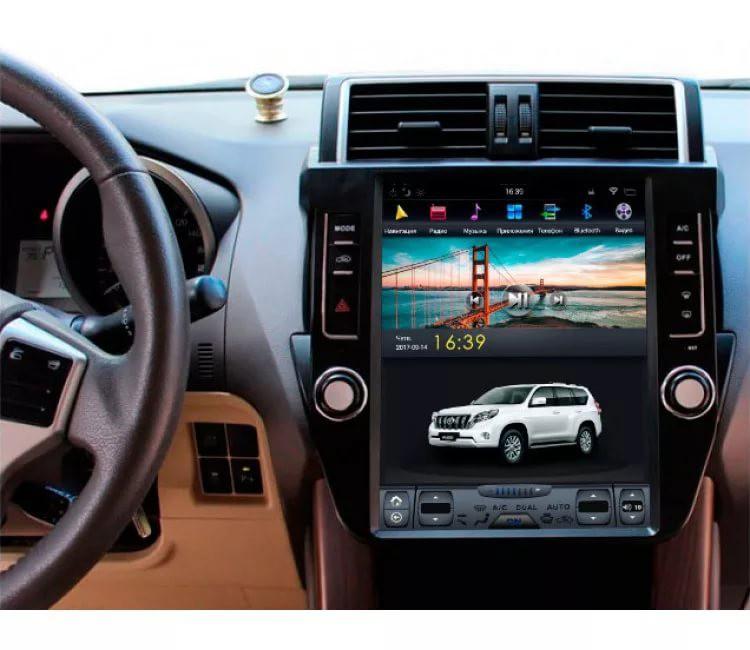 Магнитола в стиле Tesla для Toyota Land Cruiser Prado 150 (2009-2013)