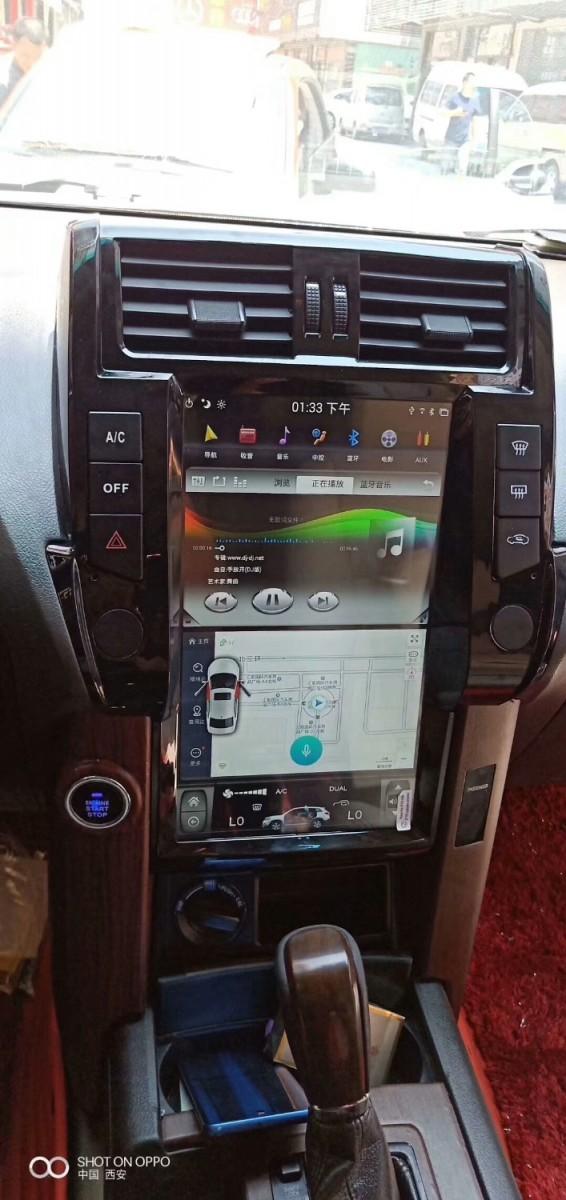 Магнитола в стиле Tesla 13.6 для Toyota Land Cruiser Prado 150 (2009-2013)