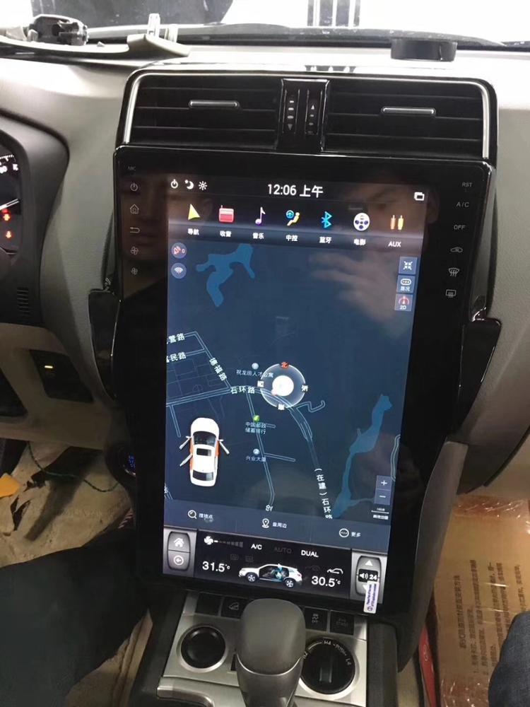 Магнитола в стиле Tesla для Toyota Land Cruiser Prado 150 (2017-н.в.)