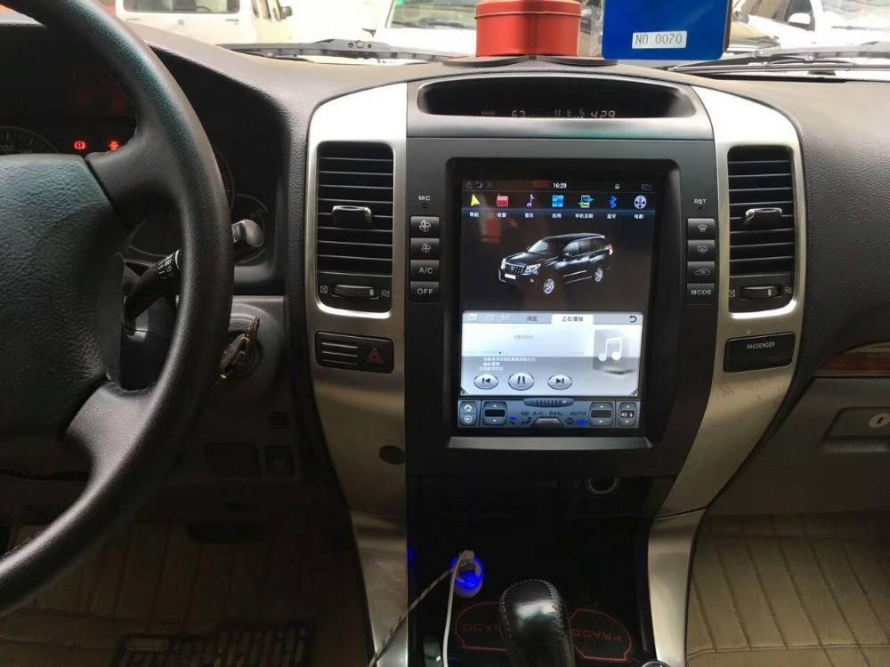 Магнитола в стиле Tesla для Toyota Land Cruiser Prado 120 (2002-2009)