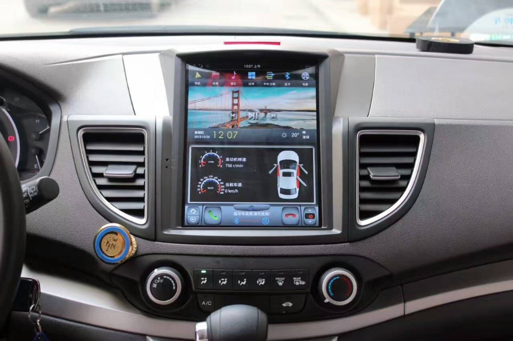 Магнитола в стиле Tesla для Honda CR-V IV (2012-2018)