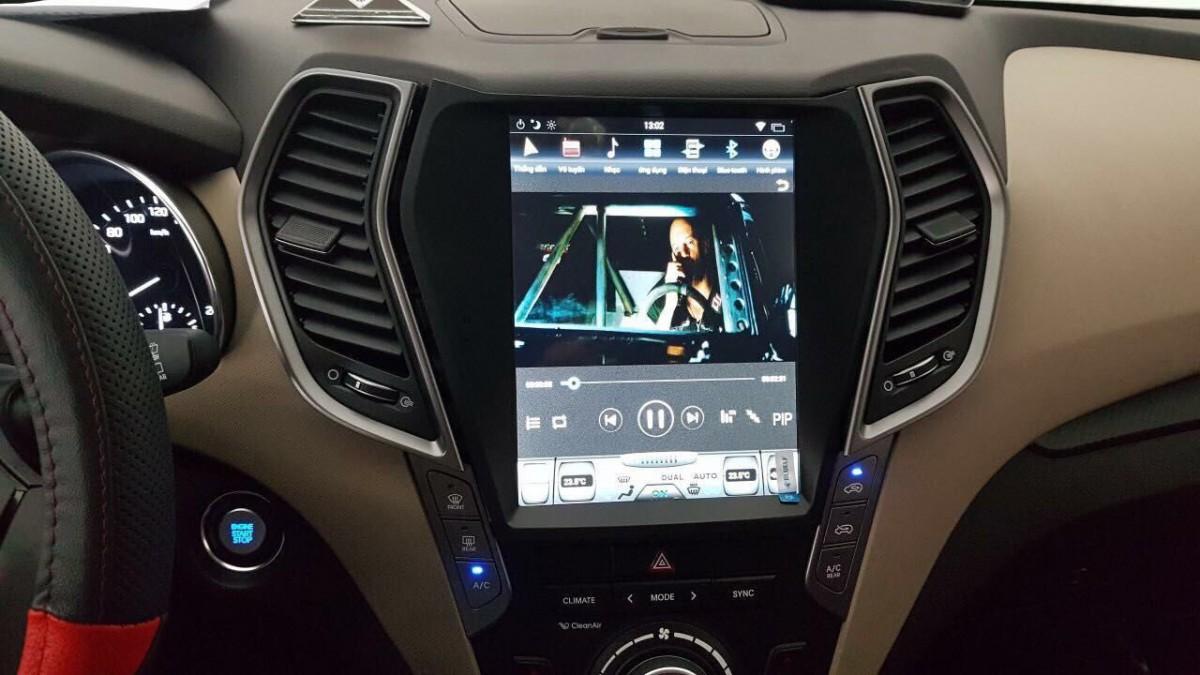 Магнитола в стиле Tesla для Hyundai Santa Fe III (2012-н.в.)
