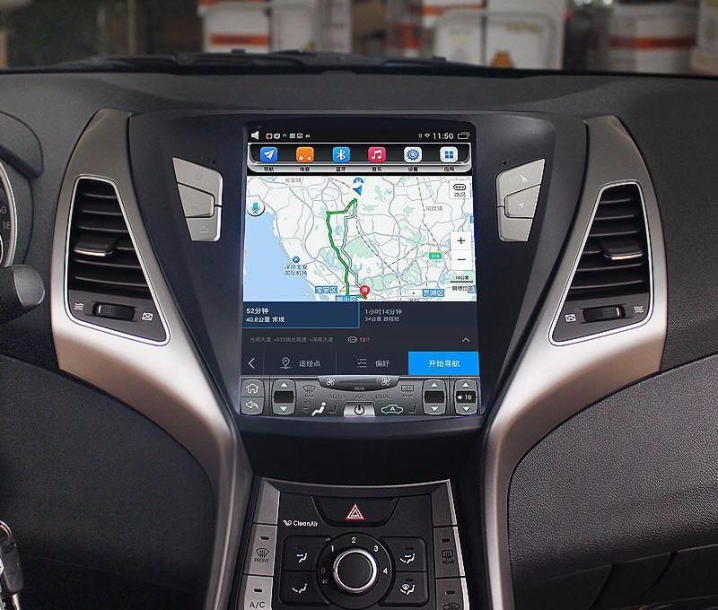 Магнитола в стиле Tesla для Hyundai Elantra V (2010-2016)