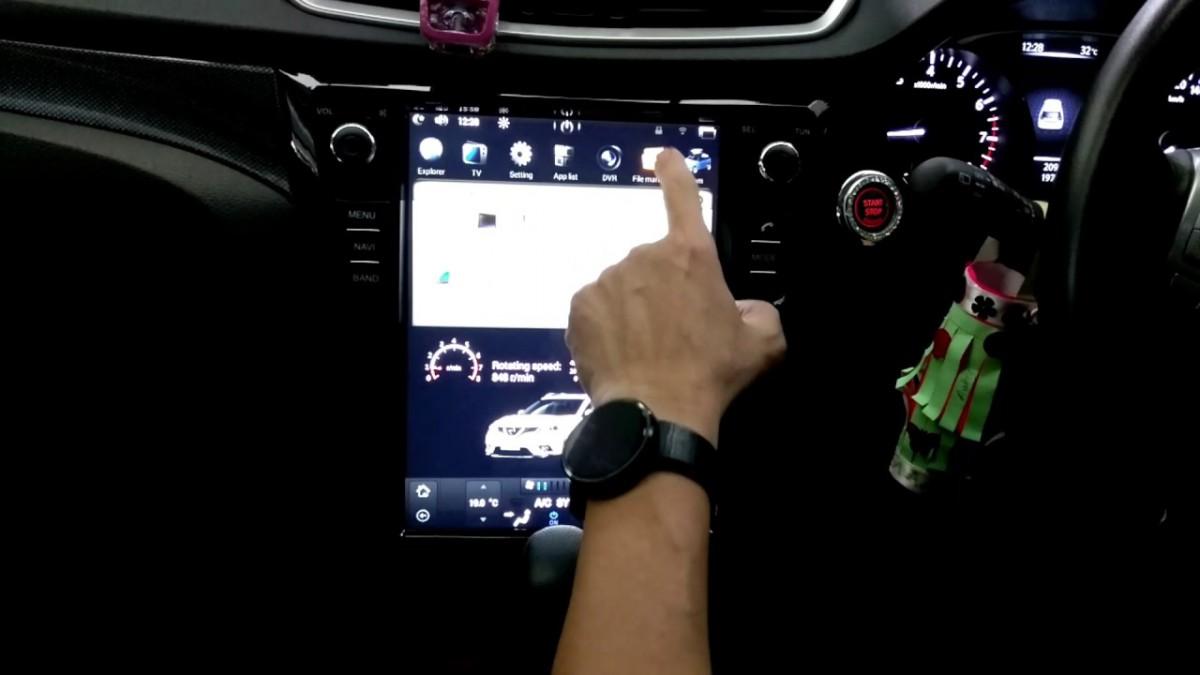 Магнитола в стиле Tesla для Nissan Qashqai II, X-Trail III (2013-2019)