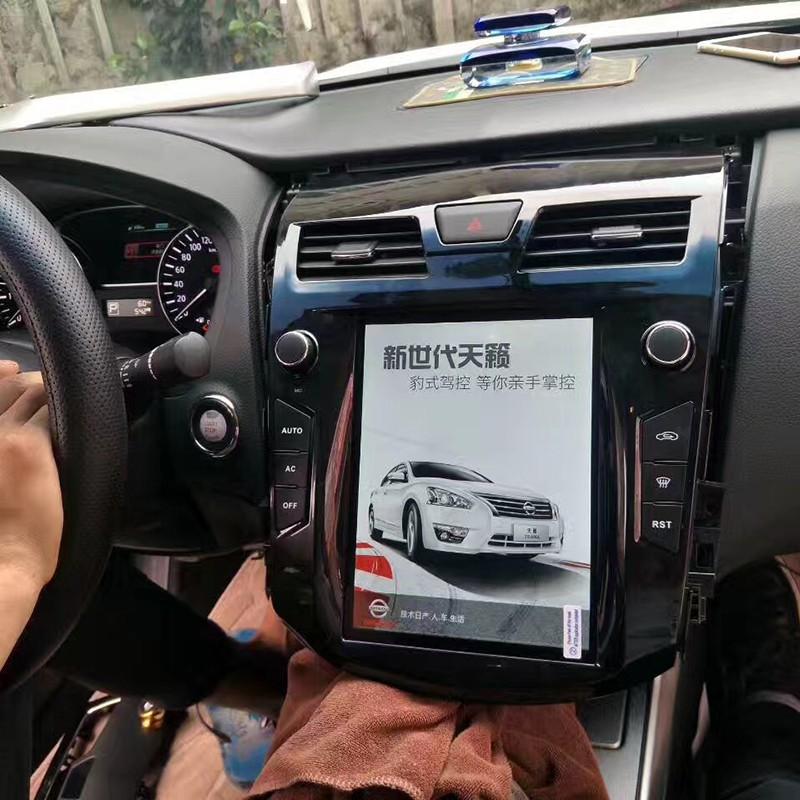 Магнитола в стиле Tesla для Nissan Teana III (2013-2019)