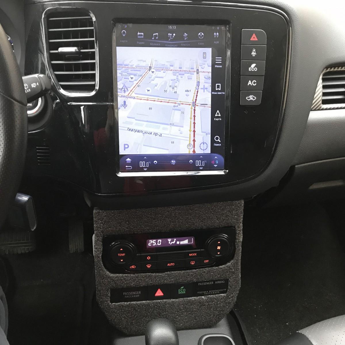 Магнитола в стиле Tesla для Mitsubishi Outlander III (2012-н.в.)