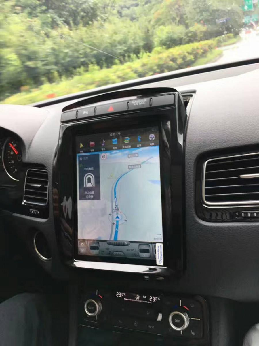 Магнитола в стиле Tesla для Volkswagen Touareg II Рестайлинг (2014-2018)