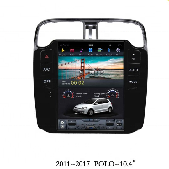 Магнитола в стиле Tesla для Volkswagen Polo (2009-н.в.)