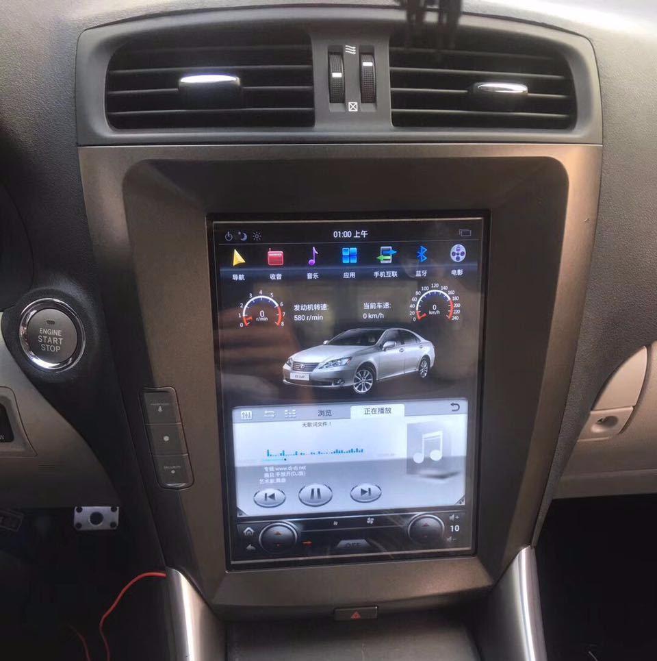 Магнитола в стиле Tesla для Lexus IS II (2005-2013)