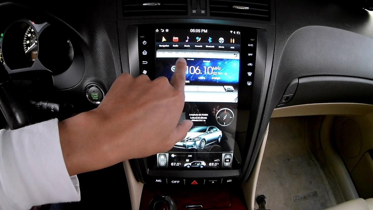 Магнитола в стиле Tesla для Lexus GS III (2004-2011)