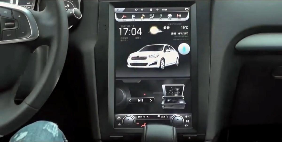 Магнитола в стиле Tesla для Citroen C4 II (2010-2016)