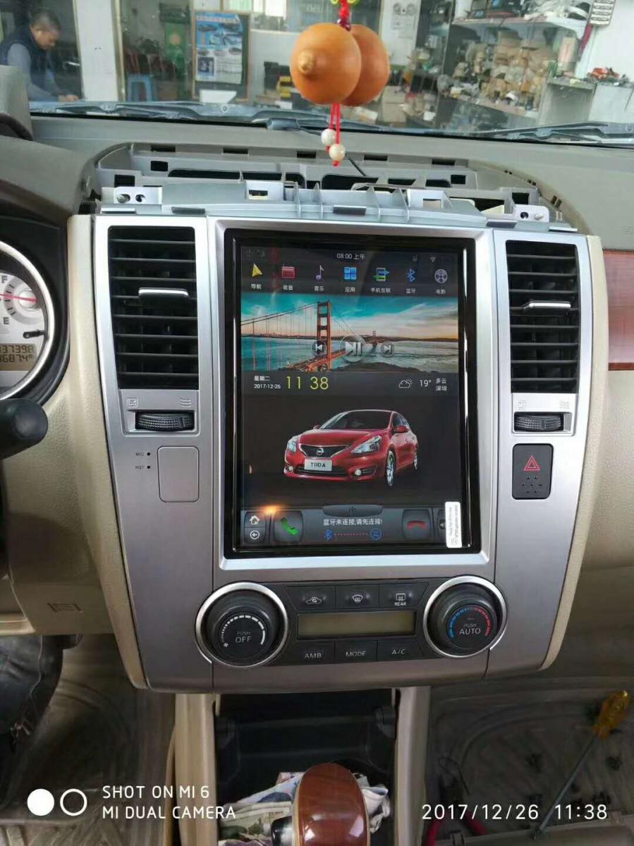 Магнитола в стиле Tesla для Nissan Tiida I (2004-2013)