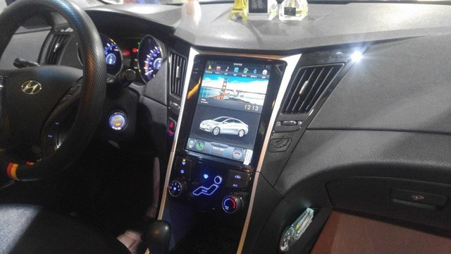 Магнитола в стиле Tesla для Hyundai Sonata VI (2009-2014)