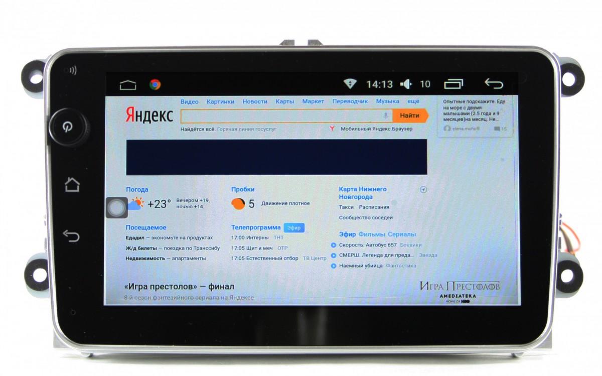 Штатная магнитола на Android T10-887 VW, Skoda PQ
