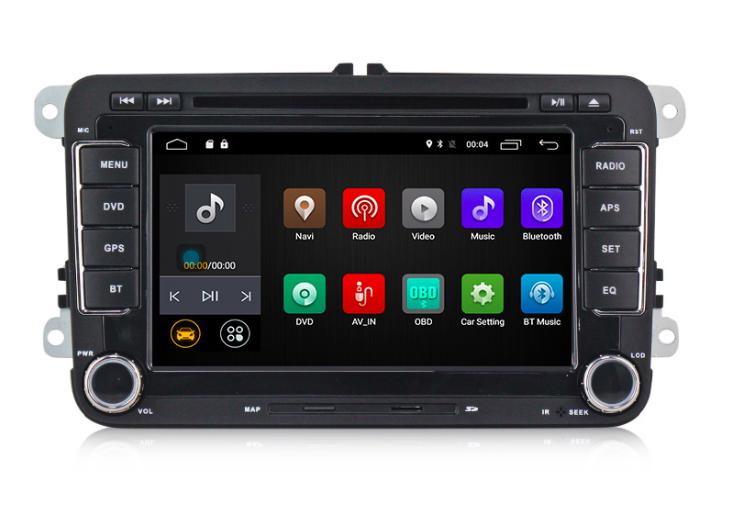 Штатная магнитола на Android MKD для VW, Skoda PQ 7''