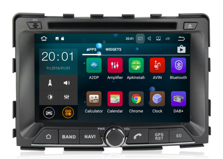 Штатная магнитола на Android MKD для SsangYong Rexton II