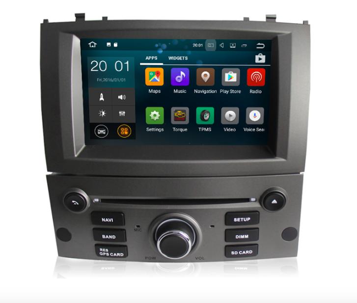 Штатная магнитола на Android MKD для Peugeot 407