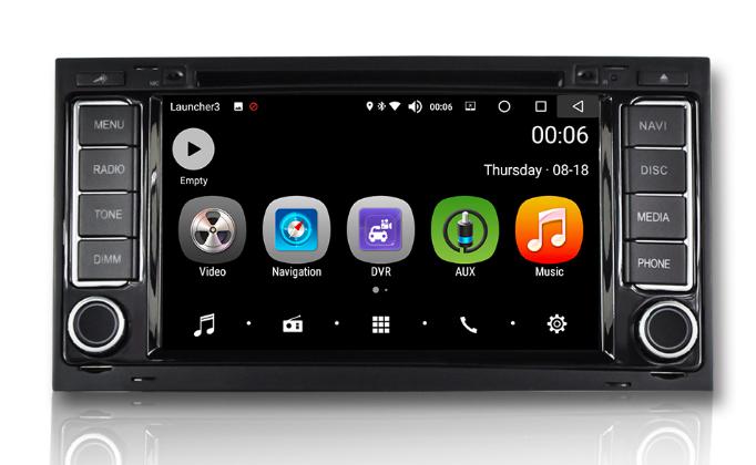 Штатная магнитола на Android PX5 для Touareg I 2002-2010, Multivan T5 2003-2015